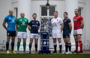 REPRO FREE***PRESS RELEASE NO REPRODUCTION FEE***  2017 RBS 6 Nations Rugby Championship Launch, The Hurlingham Club, Ranelagh Gardens, London 25/1/2017 Pictured (L-R) Sergio Parisse of Italy, Rory Best of Ireland, Greig Laidlaw of Scotland, Dylan Hartley of England, Guilhem Guirado of France and Alun Wyn Jones of Wales at the launch of the 2017 RBS Six Nations Championship at The Hurlingham Club in London today Mandatory Credit ©INPHO/Billy Stickland